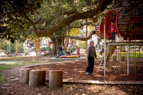 03 Brett Boardman_timber shingle cubby & carousel